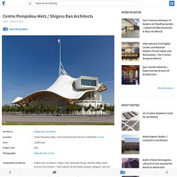 Photos plans Centre Pompidou-Metz : en anglais