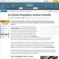 Article - Le Centre Pompidou version virtuelle, c'est quoi ?