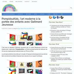 PompidouKids, l'art moderne à la portée des enfants avec Gallimard Jeunesse