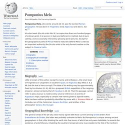 Pomponius Mela