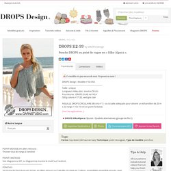 DROPS 112-33 - Poncho DROPS au point de vague en « Silke Alpaca ». - Free pattern by DROPS Design