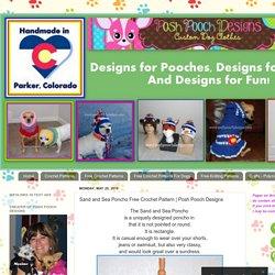 Sand and Sea Poncho Free Crochet Pattern