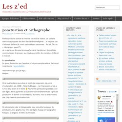 ponctuation et orthographe