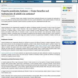 Come benefico nel trattamento di adulti con autismo