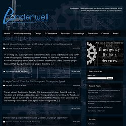 Ponderings - Blog & Technical articles from Ponderwell staff | Ponderwell