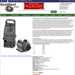 Pondmaster HY Drive Magnetic Drive Waterfall Pump, 4800 GPH at BestNest.com