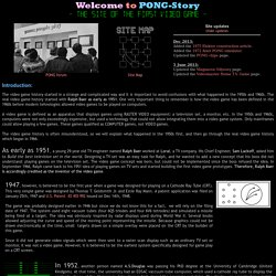 Pong-Story : Main page
