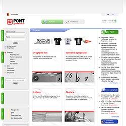 PONT Granturi.ro > Finanţări > Programe noi