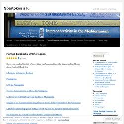 Pontos Euxeinos Online Books