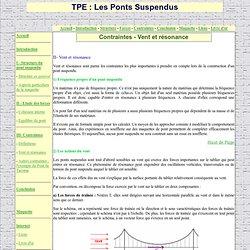TPE Ponts Suspendus - Contraintes liées au Vent