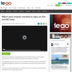 Māori pool master excited to take on the world's best