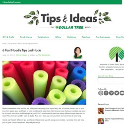 6 Pool Noodle Tips and Hacks