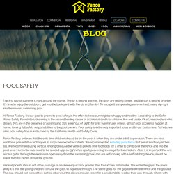 How to Make your Swimming pool Safe - Fence Factory