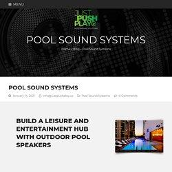 outdoor pool speakers