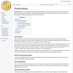 Pooled mining