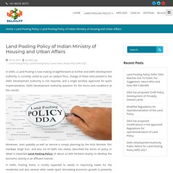 Land Pooling Policy of Indian Ministry of Housing and Urban Affairs
