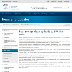 Poor sewage clean up leads to EPA fine