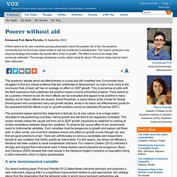 Poorer without aid