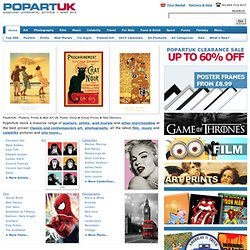 PopArtUK Poster Shop: Posters, Art Prints, Wall Murals, Canvas, Limited Edition Art + Official Merchandise