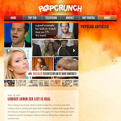 PopCrunch - A Celebrity News Tabloid For Celeb Gossip Junkies