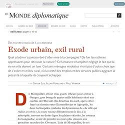 Exode urbain, exil rural, par Gatien Elie, Allan Popelard et Paul Vannier (Le Monde diplomatique, août 2010)