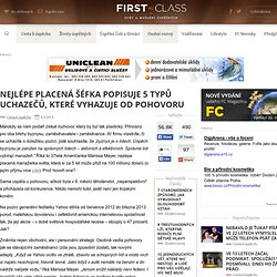 Nejlépe placená šéfka popisuje 5 typů uchazečů, které vyhazuje od pohovoru - FirstClass.cz
