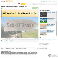 HRS Terry Top Poplar Willow Cricket Bat - Sabkifitness.Com