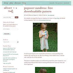 popover sundress: free downloadable pattern