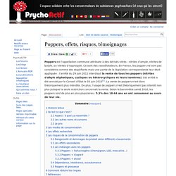 Poppers, effets, risques, témoignages — PsychoWiki