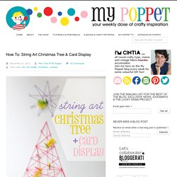 How To: String Art Christmas Tree & Card Display