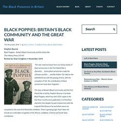 Black servicemen in World War One