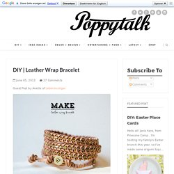 DIY | Leather Wrap Bracelet