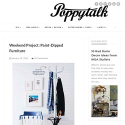 Weekend Project: Paint-Dipped Furniture