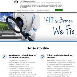 Izdelava spletne strani, Inštalacija Windowsa, Zaščita podatkov, Popravilo in posodobitev računalnika Ljubljana FIXIT