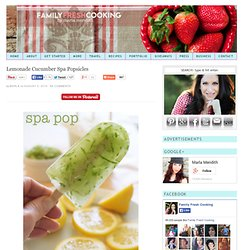 Lemonade Cucumber Spa Popsicle Recipe: Lemon Summer Pop