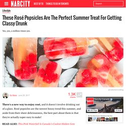 These Rosé Popsicles Are The Perfect Summer Treat For Getting Classy Drunk - Narcity
