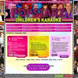 Popstarz Childrens Karaoke Hire and Parties