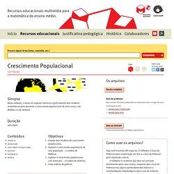 Crescimento Populacional – Coleção de recursos educacionais – Matemática multimídia