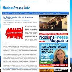 La Gauche populaire, la roue de secours anti-FN du PS