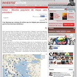 Grèce: Révolte populaire de masse sans précédent - Investig