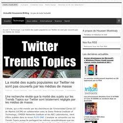 La moitié des sujets populaires sur Twitter ne sont pas couverts par les médias de masse