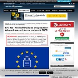 83% des 100 sites français les plus populaires échouent aux contrôles de conformité GDPR