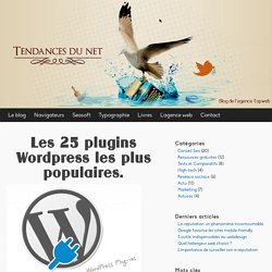 Liste des plugins Wordpress les plus populaires