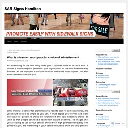What is a banner: most popular choice of advertisement