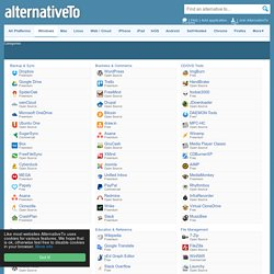 AlternativeTo.net - Popular Windows Software By Category