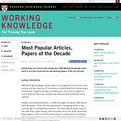 Most Popular Articles, Papers of the Decade