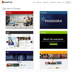Popular sites in Canada – accessible using Hola