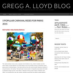 5 popular carnival rides for parks 2015