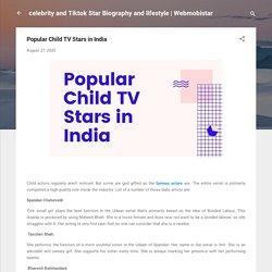 Popular Child TV Stars in India