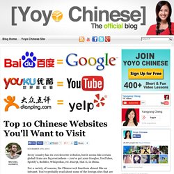Popular Chinese Websites